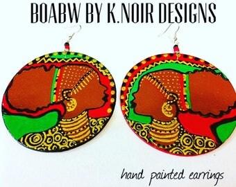 Brownie Afro puff Earrings