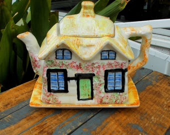 Vintage Price Kensington Cottage Ware - Made In England Teapot - Biscuit Cookies Underplate - Prissys Newberry Antiques