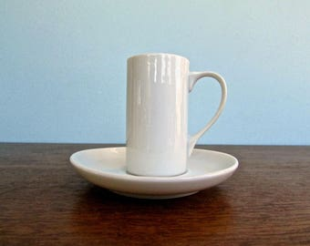 Lagardo Tackett Designed Schmid Forma White Demitasse Espresso Set White Porcelain, Elegant Modernist Iconic Staple - Mid Century Modern