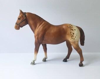 Breyer Horse Horse Figurine Vintage Breyer Horse Appaloosa Gelding Horse Brown Horse Horse collectible