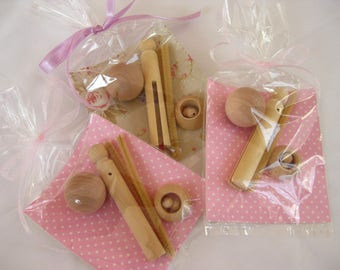 Clothespin Doll Parts - 3 SUPPLY KITS -  6 Pieces per Set