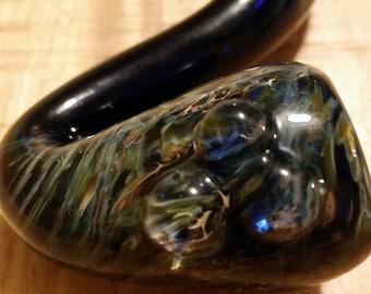 Hand blown smoking pipe - Glass sherlock - Glass sherlock pipe