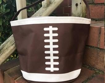 Football Easter Basket-Football Bag Toy Bucket-Monogram included