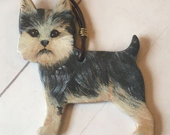Yorkshire Terrier ornament - Yorkie Ornament - Hand Painted Dog Ornament - Dog Lover Ornament - Pet Loss Gift