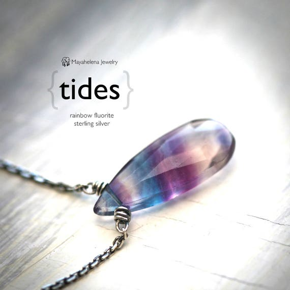 Tides - Rainbow Fluorite Sterling Silver Necklace