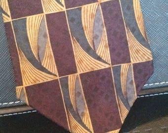 Daniel de Fasson - Vintage Necktie - Abstract Print - Free U.S. Shipping