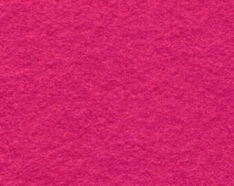 Fuchsia 20/80 Wool Blend Felt 12x18