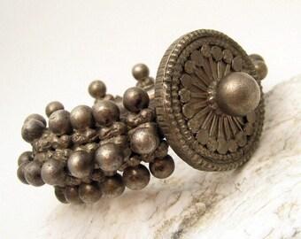 Antique Bedoin Bracelet Yemeni Tribal Upper Arm Bracelet H520