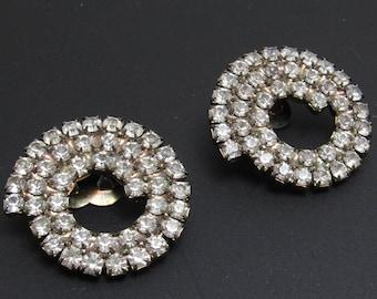 Vintage Rhinestone Shoe Clips Bridal Accessories M8561