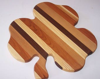 Big Shamrock Cutting Board  Handcrafted from Mixed Hardwoods
