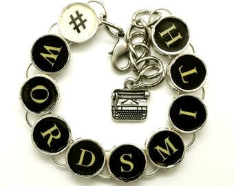 Hashtag Wordsmith Bracelet for Writers #wordsmith