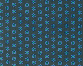 """PWAH114 Anna Maria Horner Mod Corsage Stamped Nautical Blue Floral Quilting 18"""" BTHY Rowan Westminster Half Yard Quilt Fabric HY Floral"""