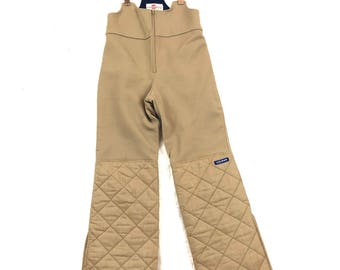 Rare Italian Neutral quilted snow pants ski suit COLMAR womens small
