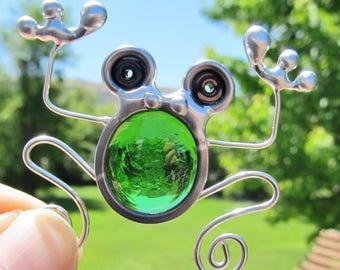 Stained Glass Screen Door Frog Suncatcher Screen Bugs Home And Garden Handmade Gifts