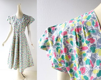 1930s Floral Dress | Maytime | 30s Dress | XS S