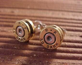 Bullet Earrings 30 Caliber Carbine Brass Shells