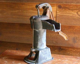 Vintage WELL PUMP- Antique Hand Pump Cast Iron Water Pump- Rustic Decor Primitive Farmhouse- Water Fountain