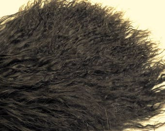 "Tibetan Lamb Mohair  Dark Espresso Brown Big 9 x 5""  Doll Hair, Reroot, Troll. Waldorf"