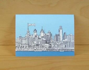Philadelphia Skyline Thank You Cards - set of 8 cards