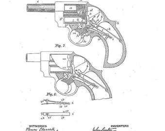 Gun Patent Print FREE U.S. SHIPPING