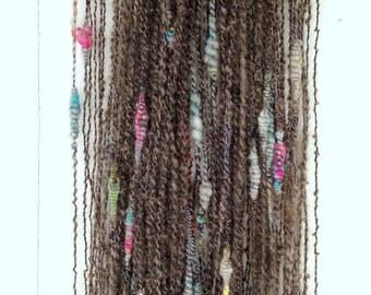 Storybook Fibers Rapunzels Twist Hand Spun Squiggle Yarn, Art Yarn, Hand Spun, Hand Spun Yarn, Squiggle Yarn, Bulky Art Yarn, 244 yards