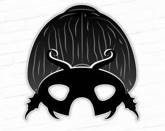 Black Beetle Printable Mask, Scarab Mask, Dung Beetle Bug Mask, Insect Mask, Diving Beetle, Rhino Beetle, Halloween Party Mask, For Kids