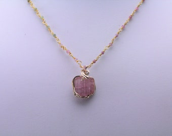 Tourmaline Necklace. Listing 598738207