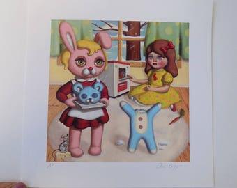 Easy Bake Bear - Signed Giclee Print