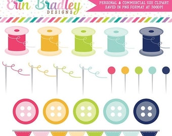 80% OFF SALE Sewing Clipart, Commercial Use Clip Art Graphics