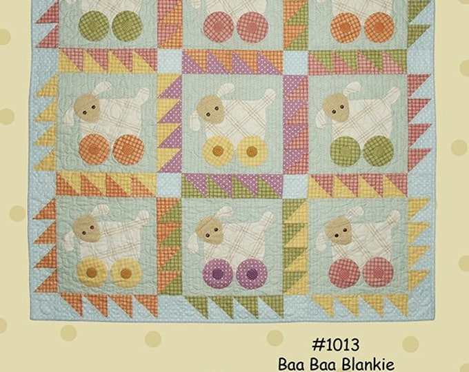 Baby Quilt Pattern, Baa Baa Blankie Quilt Pattern by All Through The Night Folk Art Designs