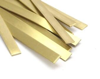 Brass Cuff Stamping Blank, 5 Raw Brass Bracelet Stamping Blanks, Bangles (6x145x1mm) D224