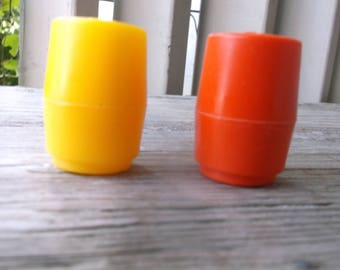 1980's Fisher Price Fun with Food Salt and Pepper Shakers