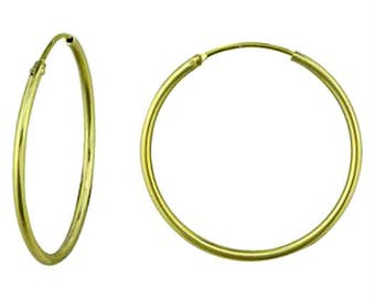 Boho Gypsy Endless Brass Hoops Choice of Gold Plated or Antique Silver Plated bulk listing