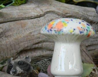 Ceramic Mushroom  Water Tender ceramic plant watering spikes Water Globe System amanita shroomz Crystal glazed Fairy garden water system