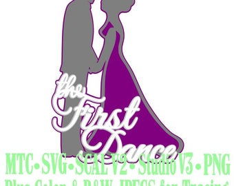 Wedding The First Dance #02 Bride Groom Cut Files MTC SVG SCAL Format and more traceable
