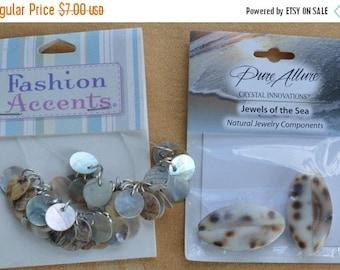 ON SALE Pretty Shell Bead Lot, Crafts, Supplies, Repurpose, Repurpose, Destash