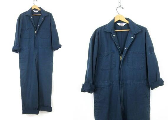 Blue Denim WALLS Coveralls Vintage Jumpsuit Mechanic Pants Blue Jean Bibs Jumper Jumpsuit Mens size 38 x 29
