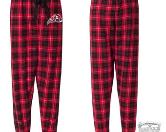 SALE! Women's PIZZA Tailgate jogger pajama pants - hand screen printed zen threads