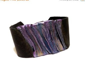 40% OFF SALE Fashion jewely Leather cuff bracelet Wristband Statement jewelry Leather jewelry