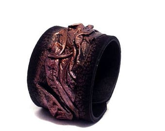 """40% OFF SALE Leather cuff bracelet. """"Casual Elegance"""" collection. Leather jewelry"""