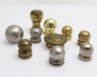 Lamp Finials Metal Vintage Hardware Home Decor