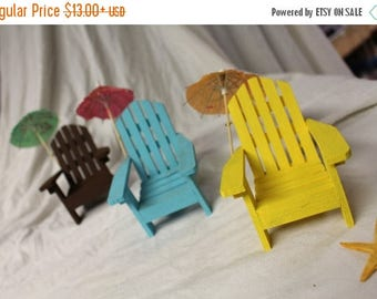 Save25% Adirondack chair in miniature-Small chair-Large style-Beach house scene-Wedding cake topper-oceanside chair-Florida fun in the Sun