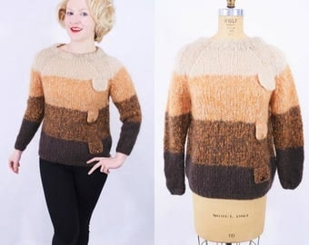 """FINAL SALE 1960s ombre sweater 