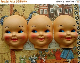ONSALE Large Vintage Kitsch Creepy Doll Faces