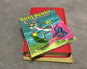 Bugs Bunny Book Vintage Children's Book Hardcover Small Book Whitman Bugs Bunny in Something Fishy