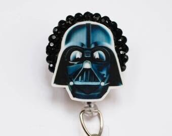 Star Wars Darth Vader ID Badge Reel - Retractable ID Badge Holder - Zipperedheart