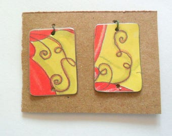 Reclaimed Upcycled Jewelry Tin Earring Findings