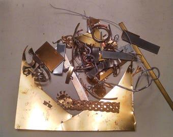 metal stock, 6ozlot: Brass, Stainless Steel, Copper, aluminum, nickle  -scrap metal