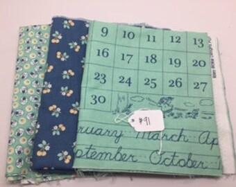 SUMMER SALE - Lori Holt Bundle #91 - Lori Holt - Riley Blake Designs - about 1 1/2 yard total