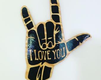 ASL I Love You Hand Sign